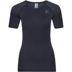Odlo Performance Light Top Manga Corta Cuello Redondo Mujer, diving navy-faded denim